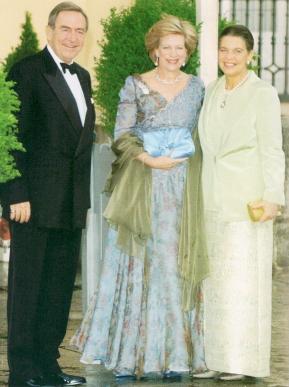 La Princesa Irene junto a su hermano Constantino y su cuñada Ana María